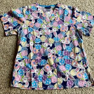 Tafford Easter Scrub Top